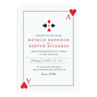 Het Huwelijk van het casino nodigt uit 12,7x17,8 Uitnodiging Kaart