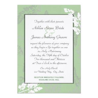 Het Huwelijk van het Kant van de natuur 12,7x17,8 Uitnodiging Kaart