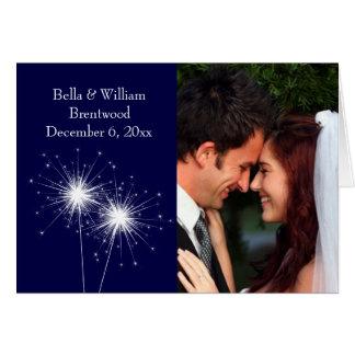 Het Huwelijk van het sterretje dankt u kaardt Kaart