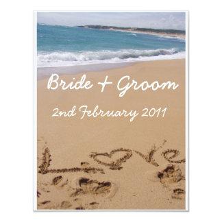 Het Huwelijk van het strand 10,8x13,9 Uitnodiging Kaart