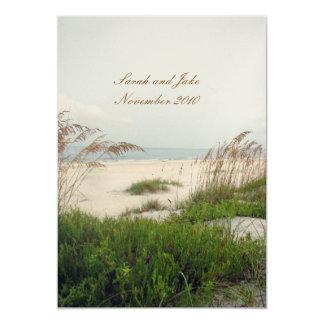 Het Huwelijk van het strand 12,7x17,8 Uitnodiging Kaart