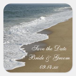 Het Huwelijk van het strand bewaart de Vierkante Stickers