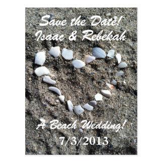Het Huwelijk van het strand bewaart het Briefkaart