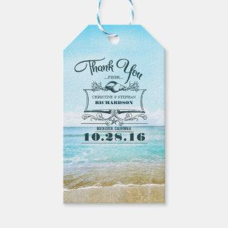 Het Huwelijk van het strand dankt u Cadeaulabel