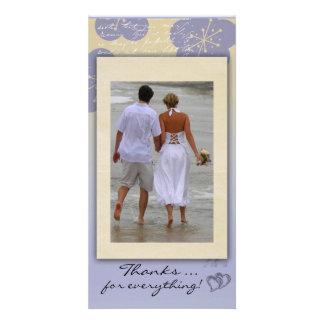 Het Huwelijk van het strand dankt u de Kaart van