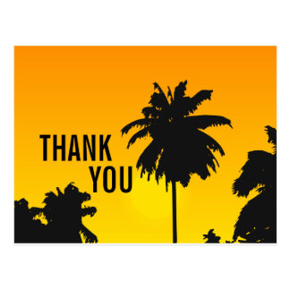 Het Huwelijk van het strand dankt u de Palmen van Briefkaart