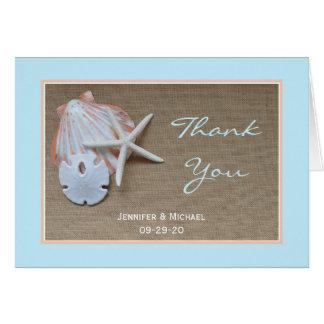 Het Huwelijk van het strand dankt u kaardt Briefkaarten 0
