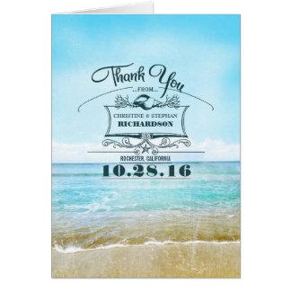 Het huwelijk van het strand dankt u kaarten