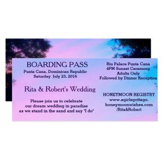 Het Huwelijk van het strand | kaartje-Bestemming 10,2x23,5 Uitnodiging Kaart