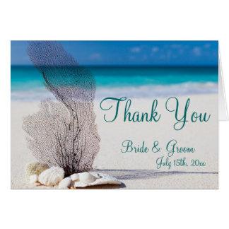 Het Huwelijk van het Strand van de Bestemming van Briefkaarten 0