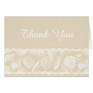 Het Huwelijk van het Strand van de jute dankt u Briefkaarten 0
