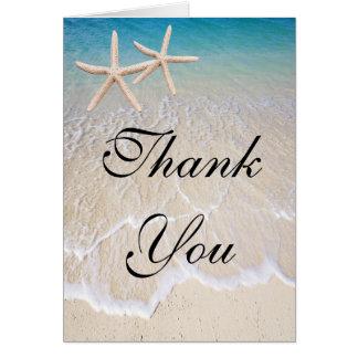 Het Huwelijk van het Strand van de zeester dankt u Briefkaarten 0