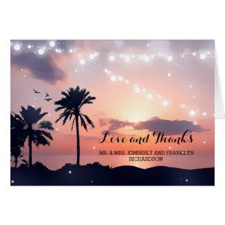 Het Huwelijk van het Strand van de zonsondergang Briefkaarten 0