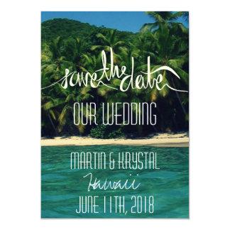 Het Huwelijk van het Strand van Hawaï bewaart Kaart