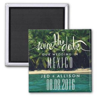Het Huwelijk van het Strand van Mexico bewaart de Vierkante Magneet