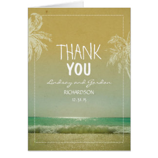 Het Huwelijk van het Strand van palmen dankt u Kaart
