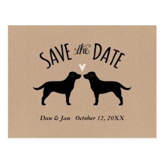 Het Huwelijk van labradors bewaart de Datum Briefkaart