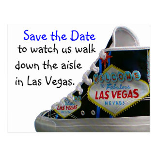 Het Huwelijk van Las Vegas bewaart Datum: gang Briefkaart