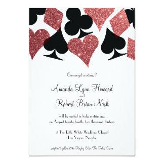 Het Huwelijk van Las Vegas van het lot nodigt 12,7x17,8 Uitnodiging Kaart