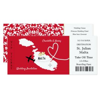 Het Huwelijk van Malta van de Instapkaart van het Kaart