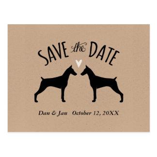 Het Huwelijk van Pinschers van Doberman bewaart de Briefkaart
