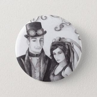 Het Huwelijk van Steampunk - Knoop Ronde Button 5,7 Cm