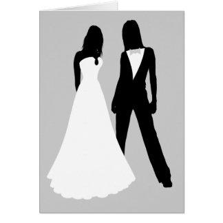 Het Huwelijk van twee Bruiden Wenskaart
