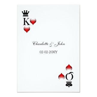Het huwelijk van Vegas bewaart de 12,7x17,8 Uitnodiging Kaart