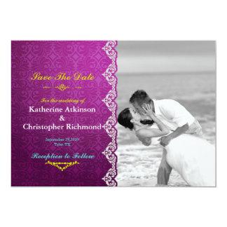 Het huwelijks zwart-witte kus van het strand 12,7x17,8 uitnodiging kaart