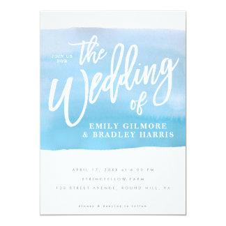 Het huwelijksuitnodiging van de waterverf kaart