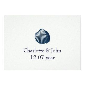 Het huwelijksuitnodiging van het strand 12,7x17,8 uitnodiging kaart