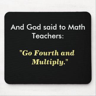 Het Idee van de Gift van de Leraar van de wiskunde Muismat