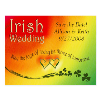 Het Iers bewaart het Briefkaart van het Huwelijk