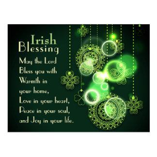 Het Iers die Lord Bless You, het Ontwerp van de Briefkaart