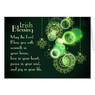 Het Iers die Lord Bless You, het Ontwerp van de Kaart