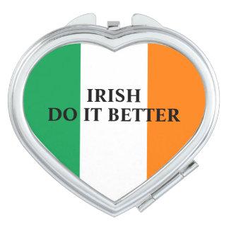 Het Iers het beter gepersonaliseerde vlag van Make-up Spiegeltje