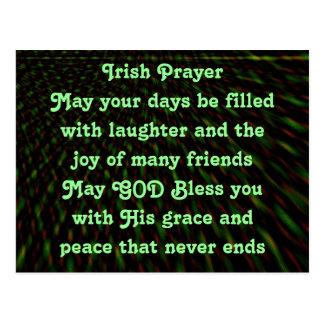 Het Ierse briefkaart van het Gebed