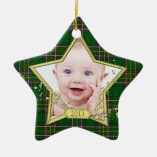 Het Ierse Geruite Schotse wollen stof van de Ster Keramisch Ster Ornament