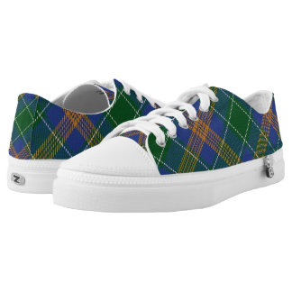 Het Ierse Geruite Schotse wollen stof van Low Top Schoenen