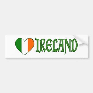 Het Ierse Hart Ierland van de Vlag Bumpersticker