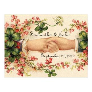 Het Ierse Huwelijk bewaart de Datum Briefkaart