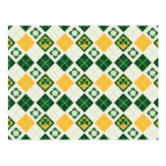 Het Ierse patroon van de Dag van Heilige Patrick Briefkaart