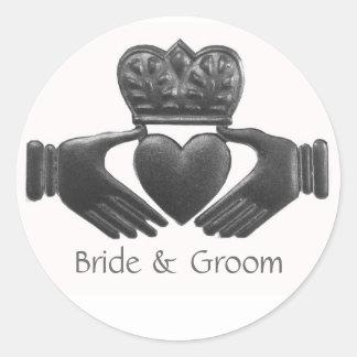 Het Ierse Symbool van de Liefde Claddagh Ronde Sticker