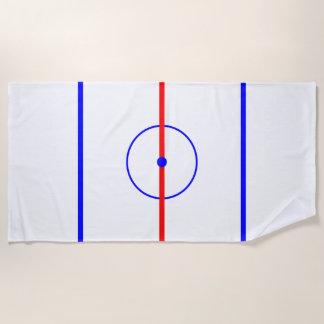 Het Ijs van het Centrum van het hockey & Blauwe Strandlaken