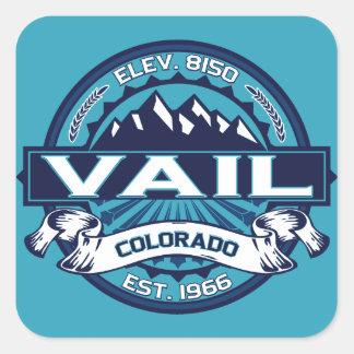 Het Ijs van het Logo van Vail Vierkante Sticker