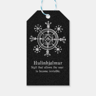 Het Ijslandse magische teken van Hulinhjalmur Cadeaulabel