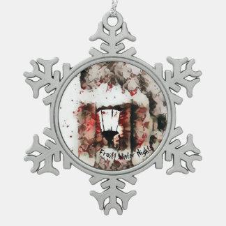 Het ijzige Ornament van de Sneeuwvlok van de