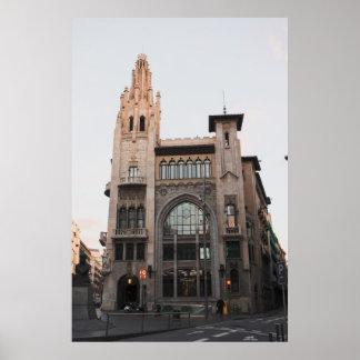 Het inbouwen van Barcelona Poster