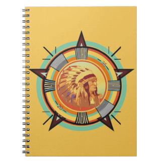 Het Indische HoofdNotitieboekje van het Patroon Ringband Notitieboek