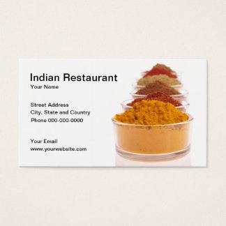 Het Indische Visitekaartje van het Restaurant Visitekaartjes